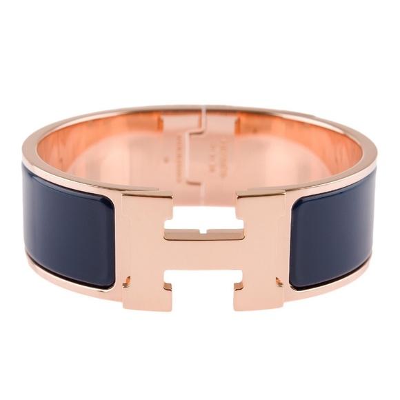 44ab8732fa0 Hermes Jewelry | 100 Authentic Clic Clac Rose Gold Bleu | Poshmark